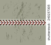 baseball flat stich | Shutterstock .eps vector #240257305