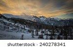 vogel ski resort above lake... | Shutterstock . vector #240278341