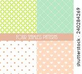 four lovely seamless pattern | Shutterstock .eps vector #240284269