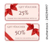 gift voucher template with red... | Shutterstock .eps vector #240294997