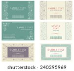 visiting card. vector banners... | Shutterstock .eps vector #240295969