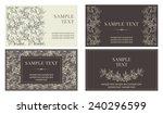 set of  business cards. vector...   Shutterstock .eps vector #240296599