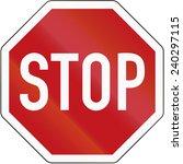 stop sign  stoppschild  ... | Shutterstock . vector #240297115