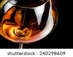 snifter of brandy in elegant... | Shutterstock . vector #240298609