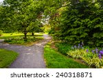 Path Through A Garden At...