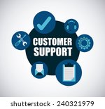 customer support | Shutterstock .eps vector #240321979
