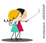 doodle selfie   full color | Shutterstock . vector #240335569