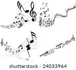 musical designs sets with... | Shutterstock .eps vector #24033964