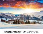 Winter Landscape And Ski Resor...