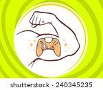 vector illustration of strong... | Shutterstock .eps vector #240345235