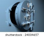 illustration of a round bank... | Shutterstock . vector #24034657