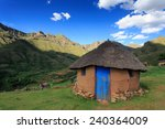 Roundavel  A Basotho Hut In Th...