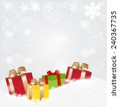 christmas background with a... | Shutterstock . vector #240367735
