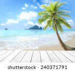 summer holiday concept  white... | Shutterstock . vector #240371791