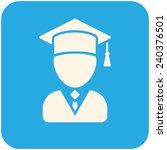 graduate  vector icon flat... | Shutterstock .eps vector #240376501
