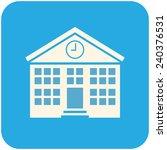 school building  vector icon... | Shutterstock .eps vector #240376531