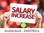 salary increase card with... | Shutterstock . vector #240378211