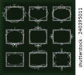 set frame   Shutterstock .eps vector #240395011