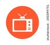 tv icon. flat design style.... | Shutterstock .eps vector #240399751