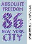 new york city graphic design... | Shutterstock .eps vector #240402331