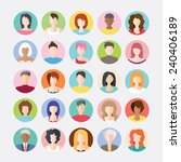 big set of avatars profile... | Shutterstock .eps vector #240406189