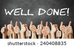 Small photo of well done - thumbs up