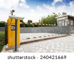 barrier on the car parking | Shutterstock . vector #240421669