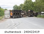 Truck Accident  On Road...