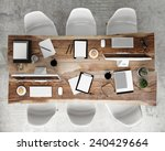 mock up meeting conference... | Shutterstock . vector #240429664