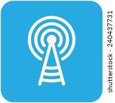 transmitter tower  vector icon...   Shutterstock .eps vector #240437731