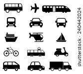 transport icons set   Shutterstock .eps vector #240442024