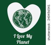ecology design over green...   Shutterstock .eps vector #240456541