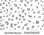 vector seamless floral pattern. | Shutterstock .eps vector #240458545