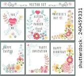 cute vintage  floral elements... | Shutterstock .eps vector #240459331