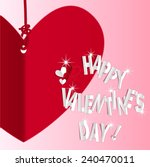 happy valentines day card ... | Shutterstock .eps vector #240470011