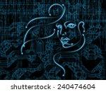 human geometry series. backdrop ... | Shutterstock . vector #240474604