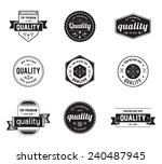 vintage set of label design | Shutterstock .eps vector #240487945