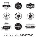 vintage set of label design | Shutterstock .eps vector #240487945