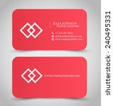 business card design set... | Shutterstock .eps vector #240495331