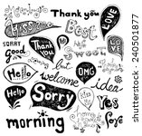 doodles hand drawn vector | Shutterstock .eps vector #240501877