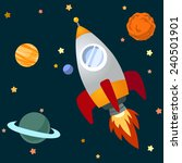 rocket and space. | Shutterstock .eps vector #240501901