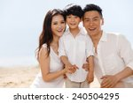 family on beach | Shutterstock . vector #240504295