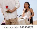 couple on beach   Shutterstock . vector #240504991