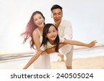 family on beach | Shutterstock . vector #240505024