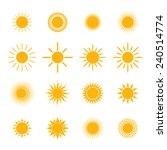 vector set of sun symbol | Shutterstock .eps vector #240514774