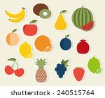 fruit flat icon. the image of... | Shutterstock .eps vector #240515764