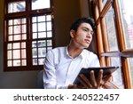 handsome young businessman... | Shutterstock . vector #240522457