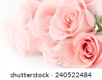 Stock photo rose flower bouquet vintage background 240522484