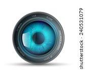 eye inside the camera lens   Shutterstock . vector #240531079