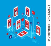 social network concept modern... | Shutterstock .eps vector #240532675